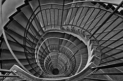 Spiral staircase (PetrSk) Tags: staircase spiral brno building bw blackwhite architecture art historical moravian czech pentax pentaxart