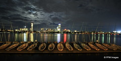 Boston at Night (pandt) Tags: boston night long exposure skyline water mit charles river moon clouds canon eos 7d flickr lights boats sailboats sailing club pavillion massachusetts vacation reflection mirror newengland