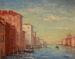Bella Venezia (paintercal) Tags: originaloilpainting onpanel venice lateday gondolas sangiorgiomaggiore