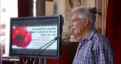 Yves Bonnet Former Governor #Justice1st conference in Paris #1988Massacre in #Iran exhibition. (iranarabspring) Tags: justice1st 1988massacre iran paris