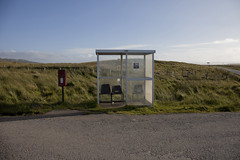 In the middle of nowhere (Francesco Stella) Tags: scotland highlands isleofskye skye bus stop busstop desolate road wilderness