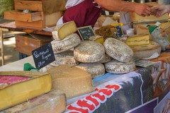 CheesyDeal (Tony Tooth) Tags: nikon d7100 nikkor 50mm f18g cheese market fair stall transaction duravel winefair quercy cahors france