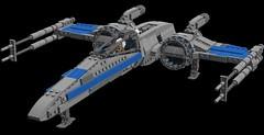 Resistance X-Wing 3.0: Landed (picardsbricks) Tags: lego starwars resistance xwing t70 poedameron elloasty bb8 snapwexley theforceawakens vii