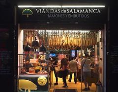Viandas de Salamanca (nisudapi) Tags: 2016 spain madrid ham jamon shop meat viandasdesalamanca calledelamontera butcher pig