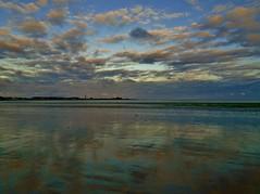 Reflections at Sunset (Richard Bougeard) Tags: jersey weather