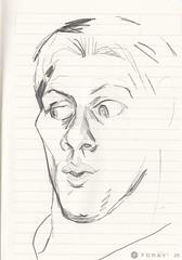 "gesicht verwundert, ""da kieckste"" (JENS01) Tags: bleistift zeichnung pencildrawing drawing art kunst sketch skizze malen abstrakt abstractart graphite sketchbook skizzenbuch blackwhite fastsketch"