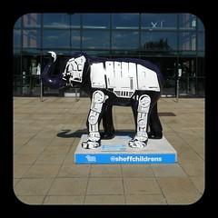 Skywalker (Squatbetty) Tags: elephant herdofsheffield skywalker stephenmckay sheffield meadowhall next