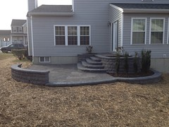 construction (25) (The Sharper Cut Landscapes) Tags: belgardhardscapes backyard landscapedesign landscaping landscapecompany landscapelighting patio pavers plantings seatwall steps retainingwall thesharpercutlandscapes thesharpercut