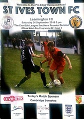 St Ives Town FC V Leamington FC Evo-Stik League Southern Permier Division St Ives Sept 2016 F (symonmreynolds) Tags: stivestownfc leamingtonfc evostikleaguesouthernpermierdivision mobilephone cellphone iphone5s stives september 2016