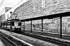 Capolinea (stefanonikon1) Tags: roma blackwhite tram nikon d7000 afs1755 capolinea