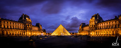 The Louvre Panorama || Paris (anoopbrar) Tags: thelouvre louvre paris france eiffel pyramid architecture building history iconic panorama twlight night sunset sunrise monalisa outdoor tower eiffeltower tourdeeiffel landcape icon monument pari trocadero art artistic bluehour urban city clouds longexposure picturesque twilight explore landscapephotography long exposure dusk citylights travel travelphotography