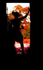 Blood Leaves (KyleApl) Tags: sillouette red green black shadow outline doorway door frame