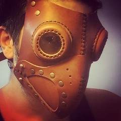 #Cyberpunk #CyberGoth #postapocalyptic #postapocalypse #steampunk #steampunkmask #leathermask #handmade #LARP #dieselpunk #leather #Darkart #costume #larping (tovlade) Tags: face mask cyberpunk cyber goth make up goggles girl punk postapocalyptic postapocalypse black steampunk leather hand made larp cybergoth dieselpunk plague doctor