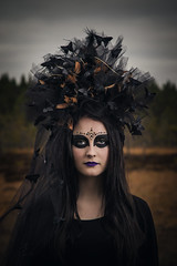 Klara (FA) (RobT4L) Tags: canon canon7dmarkii canon7dmark2 canon24105 fineart makeup portrait portrtt sweden ume nature scary black flash yongnuo fashion forest fairytale explore