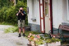 Pertisau July 2014 (Roger Hanuk) Tags: groupofpeople austria eben man men photographer railway steamlocomotive train maurach tyrol