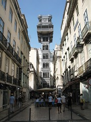 Elevador de Santa Justa (kpmst7) Tags: 2016 portugal europe iberia lisbon lisboa westerneurope southerneurope baixa street cobblestone nationalcapital