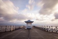 Swanage Pier (Carl Hall Photography) Tags: dorset pier purbeck sunrise swanage 10stopnd 10stop long exposure longexposure symmetry sky clouds colourful coast seascape