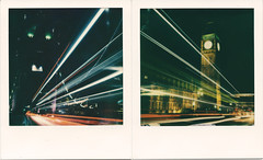 Welcome to the Light Tour of London (Ray Liu (Photographer)) Tags: london lowlight nighttimephotography instant polaroid i1 impossibleproject lighttrails light roidweek night city bridge towerbridge westminster bigben westminsterbridge