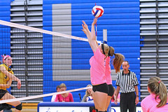 IMG_10534 (SJH Foto) Tags: girls volleyball high school lampeterstrasburg lampeter strasburg solanco team tween teen east teenager varsity net battle spike block action shot jump midair