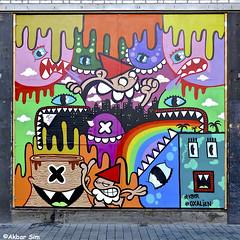 Rotterdam graffiti/street art (Akbar Sim) Tags: oxalien kbtr rotterdam rotjeknor holland nederland netherlands schuttingtaal graffiti streetart akbarsim akbarsimonse