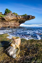 Message In A Bottle (Brian O'Mahony) Tags: beautiful bali rocks shore seascape sea blue sky water canon1635mmf28l canon6d canon cove beach fishing basket fish nets nusadua