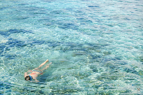kanawa island girl snorkeling