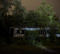 365-320 ( estatik ) Tags: 365320 365 320 september292016 sept 92916 thurs thursday night long exposure panorama train car abandoned lambertville nj new jersey hunterdoncounty