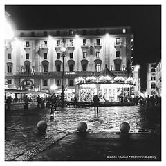 una sera a Firenze - one evening in Florence (albygent Alberto Gentile) Tags: firenze sera biancoenero blackwhite florence night