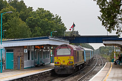 67022 with DVT 82307 1V91 0533 Holyhead - Cardiff at Abergavenny 23.09.2016 (2) (The Cwmbran Creature.) Tags: british rail class railway train 67 wag wales assembly government gerald arriva atw trains premier service