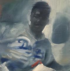 Stealing Home (Jackie Robinson) (GreggChadwick) Tags: art newyork baseball brooklyn blacklivesmatter jackierobinson 1955 dodgers ladodgers mlb