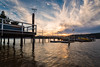 Sunset at The Boathous Palm Beach Resturant (Orange Orb Photography) Tags: lights barrenjoey palmbeach northernbeaches resturant sunset water australia sydney jetty westhead boats clouds