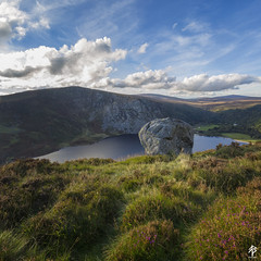 Lough Tay...  [Explored October 14th 2016] (fearghal breathnach) Tags: loughtay wicklow wicklowmountains autumn squareformat square lake boulder outdoors greatoutdoors ireland wilderness wild 5d canoneos5dmarkiii ef1635mmf4lisusm