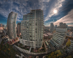 Vancouver (Jovan Jimenez) Tags: rosedaleonrobson suite hotel vancouver bc cananda downtown hdr pano pro giga skyline city fisheye panorama panoramic tokina 70d canon eos cityscape buildings architecture britishcolumbia canadian 1116mm canada atx 116 dx ii f28 kolor autopano autopanopro gigapexel pixel