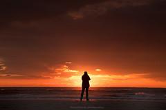 sunset over Ameland (dewollewei) Tags: ameland wadden waddeneilanden hollum sunset zonsondergang sun sky