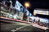 ICC Berlin (Krueger_Martin) Tags: night berlin blue blau 40mm festbrennweite primelense city stadt urban light lights licht langzeitbelichtung hdr photomatix dark dunkel icc iccberlin messedamm canoneos5dmarkii canoneos5dmark2 canonef40mmf28stm strase street rot weis red white architecture architektur