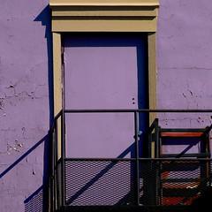 side door (msdonnalee) Tags: door doorway purple railing purplewall exit