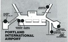 Alaska PDX diagram, June 1987 (airbus777) Tags: alaskaairlines airport terminal map 1987 portland pdx diagram as