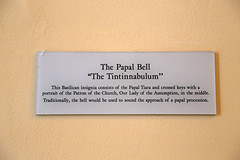 "Papal Bell ""The Tintinnabulum"" Description (Jim, the Photographer) Tags: catholic cathedral roman basilica baltimore assumption bvm"