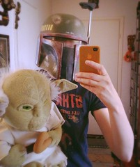 May the 4th be with you! (Hannhell) Tags: startrek mirror starwars yoda may cuddly fourth bobafet maythefourth maythe4th uploaded:by=flickrmobile flickriosapp:filter=nofilter