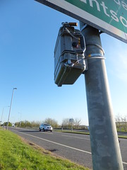 Being counted (stevenbrandist) Tags: camera sign video traffic post leicestershire temporary survey loughborough quorn oneashroundabout