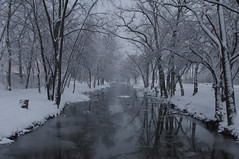 Snow on the Canal:  Explored 5.5.2013 (michael.veltman) Tags: winter snow canal illinois im lockport