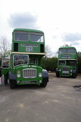 Eastern National Lodekka comparison - 1965 Bristol FLF6G / ECW HH 2849, NTW 942C and 1954 LD5G / ECW HH 2400, XVX 19 at Walthamstow (EastBeach68) Tags: bristol hh ecw 251 2400 lodekka easternnational 2849 flf6g easternnationalomnibuscompany ld5g ntw942c xvx19 251runningday southendlondonwoodgreen251 easternnationalheritage easternnationalomnibuscoltd easternnationalbus easternnational251runningday2013