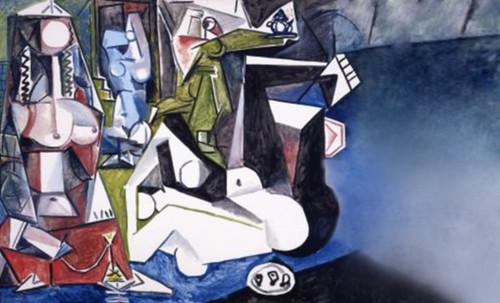 """Odaliscas (Mujeres de Argel) yuxtaposición y deconstrucción de Pablo Picasso (1955), síntesis de Roy Lichtenstein (1963). • <a style=""""font-size:0.8em;"""" href=""""http://www.flickr.com/photos/30735181@N00/8748000716/"""" target=""""_blank"""">View on Flickr</a>"""