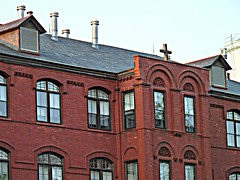 Poor Clares Detail (jannetie) Tags: park railroad trees sunset red brick green water train reflections garden newjersey twilight cross pennsylvania bricks wroughtiron traintracks lawn bank trains stainedglass nuns monastery smokestack crucifix tugboat slate convent barge stmaryschurch redoak hilltop roadwork brickwork churchst mercercounty delawareriver flemishbond yachtclub railroadtracks barges methodistchurch paddlewheeler railroadtrestle assistedliving slateroof presbyterianchurch etchedglass crosswickscreek burlingtoncounty pennsylvaniarailroad trentonnj duckisland stmarysschool firehousegallery seniorliving bordentownnj poorclare lockkeepershouse englishbond poorclares burlingtonst delawareandraritancanal farmersandmechanics farnsworthave firstlock yapewiaquaticclub farnsworthavenue appshardware theclareestate boatclubhouses juanitacrosby crosswicksstreet