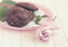 Rosa ( Mrs  (MaiSa )) Tags: stilllife cookies chocolate rosa chocolat galletas spr
