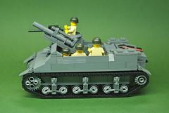 M7 Priest (3) (Dunechaser) Tags: usa army unitedstates lego military worldwarii ww2 artillery priest hmc m7 105mm howitzer allied brickarms selfpropelledartillery howitzermotorcarriage