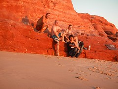 Group (fraggy) Tags: sunset red beach rocks buddy veronika finn rex capeleveque
