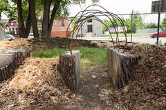 Scrap into sculpture (Plant Chicago) Tags: plant chicago compost reuse hugel outdoorgarden 2013 mounding verticalfarm hugelkultur