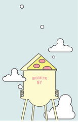 Brooklyn NYC (studioei8htzero.com) Tags: pizza illustration illustrator brooklyn nyc newyork creative foodart