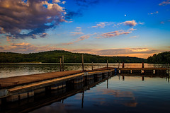 pastel dock (david_sharo) Tags: sky reflection water clouds forest landscape hdr davidsharo